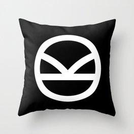 KINGSMAN -White Logo Throw Pillow