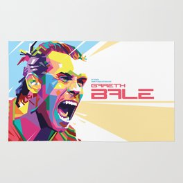Gareth Bale in Colorful WPAP Rug