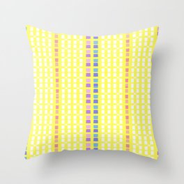 Lemon Mosaic Throw Pillow