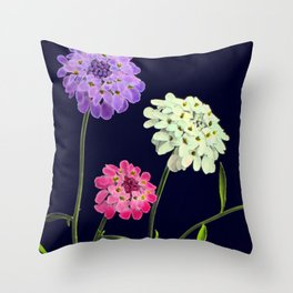 Three Beauties in Black Throw Pillow