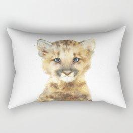 Little Mountain Lion Rectangular Pillow