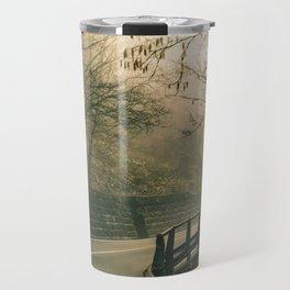 Tuscany Environment Foggy Empty Highway Travel Mug