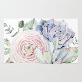 Succulent Blooms Rug