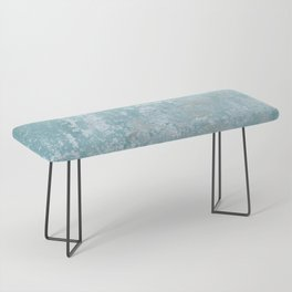 Galvanized Vintage Metal Blue Bench
