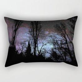 Black Trees Dark Space Rectangular Pillow