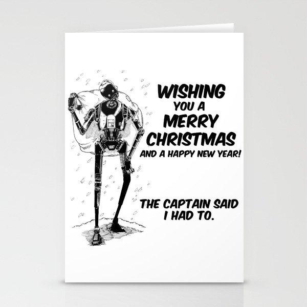 K-2SO Christmas Stationery Cards by moonwalkerwiz   Society6