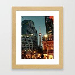 CN Tower Night Time Framed Art Print