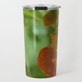 Orange Snapdragon Travel Mug