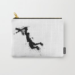 Basketball player dunking in ink Carry-All Pouch
