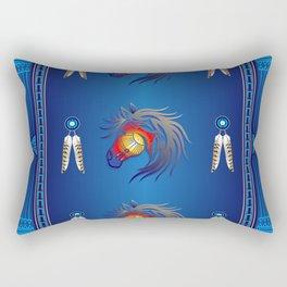 Crazy Horse Rectangular Pillow
