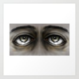 Brown eyes Art Print