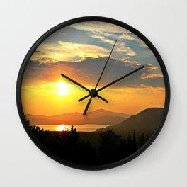 Rangeley Sunset Wall Clock