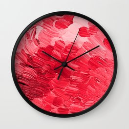 Cranberry Clouds Wall Clock