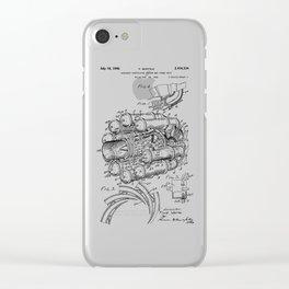 Jet Engine: Frank Whittle Turbojet Engine Patent Clear iPhone Case