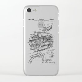 Jet Engine: Frank Whittle Turbojet Engine Patent Clear iPhone Case