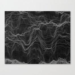 Soft Peaks Black Canvas Print