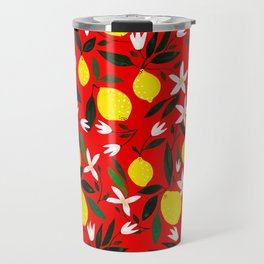 Lemons Red Travel Mug