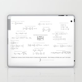 High-Math-Inspiration 01 - Black & Gray Laptop & iPad Skin
