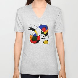 In the Style of Miro Unisex V-Neck