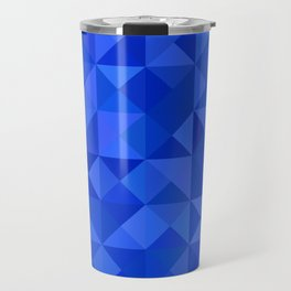 Blue pyramids Travel Mug