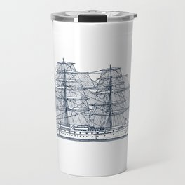 Big Sailing Ship Travel Mug