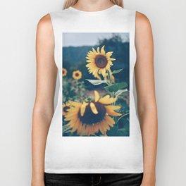Collecting Sunflowers Biker Tank
