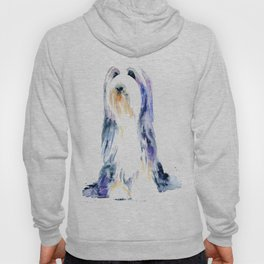 Bearded Collie by Emma Parrish Hoody