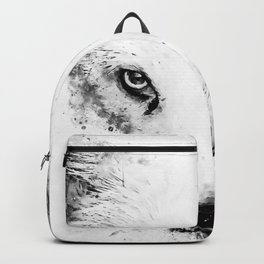 arctic fox bicolor eyes ws bw Backpack