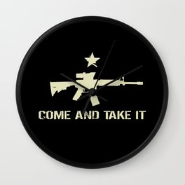 M4 Assault Rifle - Come and Take It Wall Clock