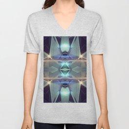 Abstract angular glow Unisex V-Neck