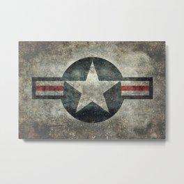 Vintage USAF Roundel Metal Print