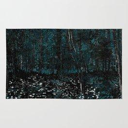 Vincent Van Gogh Trees & Underwood Dark Teal Rug