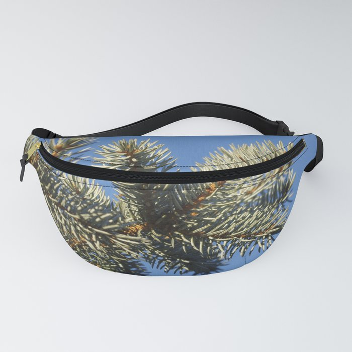All spruced up and still blue - Blue spruce, blue sky 1564 Fanny Pack