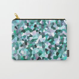 Turquoise Mosaic Pattern Carry-All Pouch