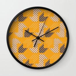 Clover&Nessie  Mandarin/Mocha Wall Clock