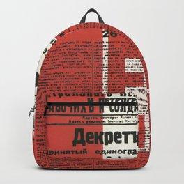 Russia, URSS Vintage Poster, Lenin, Newspaper Backpack