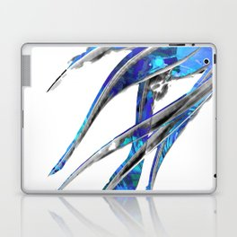 Abstract Blue And White Art - Flowing 5 - Sharon Cummings Laptop & iPad Skin