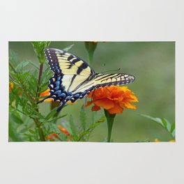 Yellow female Eastern Tiger Swallowtail  Rug