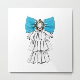 Versailles Style Riffle Jabot Painting (bow tie) T-shirt Metal Print