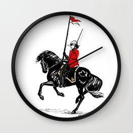 Mountie Wall Clock