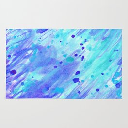 Abstract watercolor light blue colour Rug