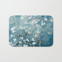 Vincent Van Gogh Almond Blossoms Teal Bath Mat