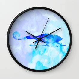 Abstract Chameleon Reptile Wall Clock