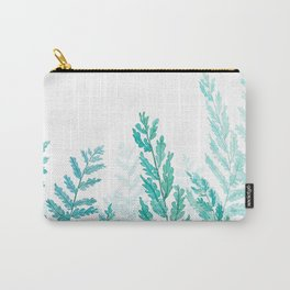 green fern watercolor Carry-All Pouch
