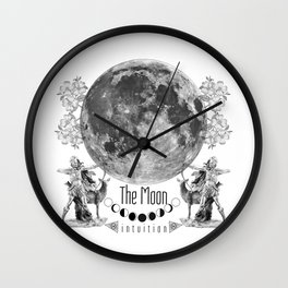 The Moon: Intuition Wall Clock