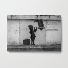 Banksy in Calais Metal Print