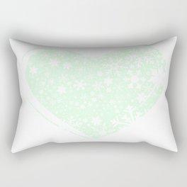 Christmas Heart Background Rectangular Pillow