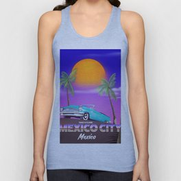 """Mexico City - """"Mexican nights"""" version Unisex Tank Top"""