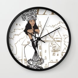 Kayla Royal Wall Clock