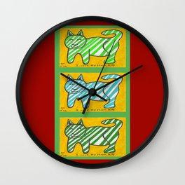 Cat, Cat, cat Wall Clock